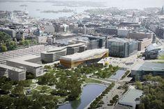 "First prize for the Helsinki Central Library competition ""Käännös"" /  ALA Architects // http://www.ala.fi"