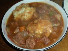 Beef Stew with Dumplings...OMG so good! Dinner tonight!