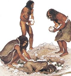 Burial did not begin with modern humans, instead the earliest burials found were by neanderthals, at sites like Sima de las Palomas, Spain.