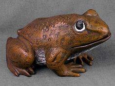 Cast Iron Frog Statue