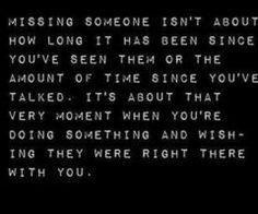 Missin' you.