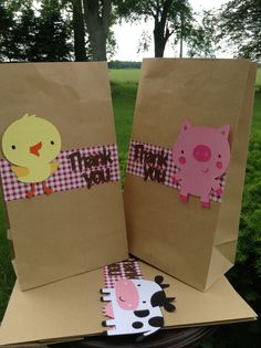 Barnyard Farm Animal Bash Goodie Bag set of 10