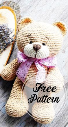 Crochet bear amigurumi free pattern part crochet amigurumi; amigurumi instructions free of charge; amigurumi crochet pattern for fre Crochet Amigurumi Free Patterns, Free Crochet, Knitting Patterns, Crochet Teddy Bear Pattern Free, Crochet Teddy Bears, Amigurumi Minta, Blog Crochet, Crochet Dolls, Free Knitting