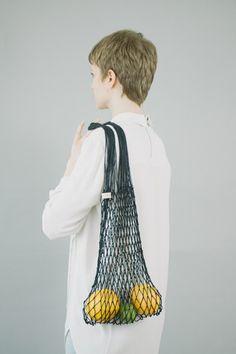 Grocery String Bag Black