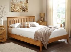 Wooden Bed Frames - Wooden bed originated furniture that was a part of a set or bits for the bedroom. The wooden bed was o Oak Bed Frame, Solid Wood Bed Frame, Wooden Bed Frames, Oak Bedroom Furniture, Wooden Bedroom, Home Bedroom, Bedroom Decor, Solid Oak Beds, Wooden King Size Bed