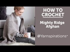 Bernat Mighty Ridge Crochet Afghan, Crochet Pattern   Yarnspirations