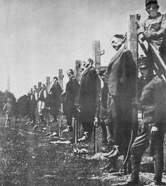 A History of the First World War in 100 Moments: Austro-Hungarian army executes civilians in Serbia World War One, First World, Execution By Firing Squad, Wilhelm Ii, Austro Hungarian, Old Postcards, The Victim, World History, Ww1 History