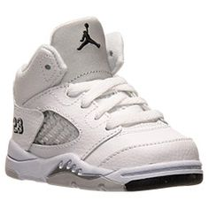 <p>Inspired by Michael Jordan's continued flight status and a WWII fighter plane the Air Jordan 5 was another custom Tinker Hatfield tinkered to perfection. With another scoring title under his belt and a 69 point outbreak against the Cavaliers, Jordan needed a shoe that would live up to his elevated game.  </p><p> 1990 proved to be a good year, Michael's aerial attack inspired the WWII Spitfire flames on the 5s. This shoe introduced a padded tongue displaying a continuance of the iconic…