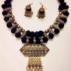 Silk Thread Bangles Design, Silk Thread Necklace, Beaded Necklace Patterns, Thread Jewellery, Jewelry Patterns, Necklace Designs, Fashion Jewelry Necklaces, Handmade Necklaces, Beaded Jewelry