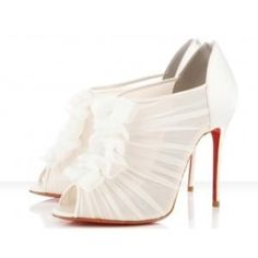 White Shoes, Wedding Shoes, Wedding Ideas, Ankle Boots, Dream Wedding, Christian Louboutin, Shoes Louboutin, Red Bottom