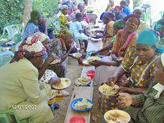 Meal at Bible conference Ugunja Kenya