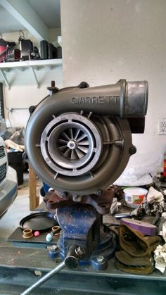 Finally had some time to post project pictures.  Rebuilt 2 stock LBZ turbos.