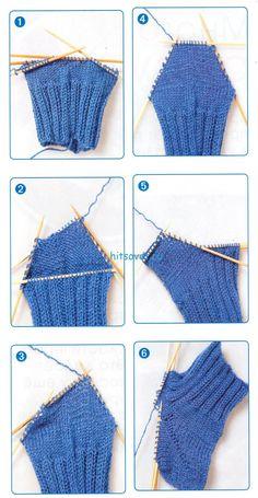 Knitting Stiches, Knitting Videos, Knitting Socks, Knitting Patterns, Crochet Slipper Boots, Knitted Slippers, Crochet Slippers, Crochet Vest Pattern, Knit Crochet