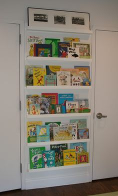 book shelves ~~ could do this on wall between windows in K's room ~~