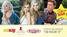 Published on Oct 23, 2014 95KSJ presents Stars with Guitars. A benefit for St. Jude's Children's Research Hospital at Moe's Original BBQ, Downtown Mobile, AL. October 23, 2014.   Feelin' It - Scotty McCreery Live
