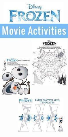 I love the snowflakes! Includes free printable template! Disney Frozen Activities #DisneyFrozen via @bludlum