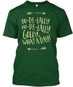 Disney Robin Hood   Oo De Lally Forest Green  T-Shirt Front