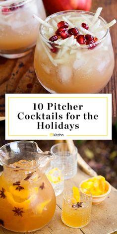 10 Pitcher Cocktails to Serve on Thanksgiving 10 Pitcher Cocktails zum Erntedankfest Party Drinks Alcohol, Drinks Alcohol Recipes, Punch Recipes, Fun Drinks, Yummy Drinks, Drink Recipes, Food And Drinks, Easy Recipes, Alcoholic Beverages