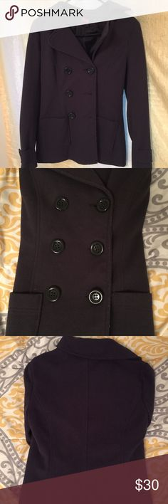 Dark Forever 21 Navy Jacket Very cute jacket that can fit another layer underneath. Forever 21 Jackets & Coats Pea Coats