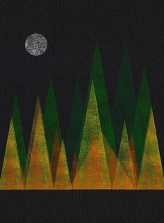 Full Moon/Autumn Forest by sergeyt   iPad/LetterMpress