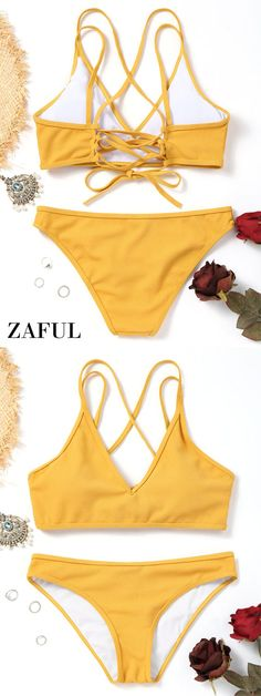 Up to 80% OFF! Cross Back Lace Up Bikini Set. #Zaful #Swimwear #Bikinis zaful,zaful outfits,zaful dresses,spring outfits,summer dresses,Valentine's Day,easter,super bowl,st patrick's day,cute,casual,fashion,style,bathing suit,swimsuits,one pieces,swimwear,bikini set,bikini,one piece swimwear,beach outfit,swimwear cover ups,high waisted swimsuit,tankini,high cut one piece swimsuit,high waisted swimsuit,swimwear modest,swimsuit modest,cover ups @zaful Extra 10% OFF Code:ZF2017