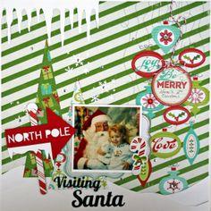 Visiting Santa - Scrapbook.com