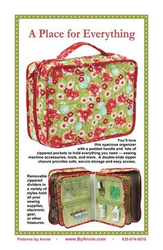 Patterns and supplies for quilters and fabric lovers: Shop | Category: Patterns by Annie | Product: A Place for Everything