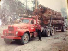 Kevin Ericsson The Swede driving a 1960;s Mack B61 near Chiliwack BC