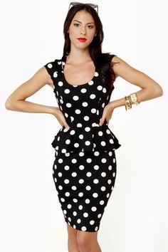 Spots Going On Midi Polka Dot Dress at Lulus.com!