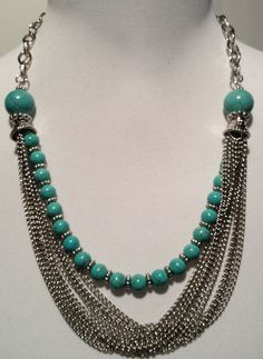 Statement Necklace/earrings set in by RockinRobinsBling on Etsy, $20.00