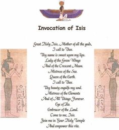 :: Book of Shadows: Invocation of Isis. Isis Goddess, Egyptian Goddess, Goddess Isis Tattoo, Egyptian Mythology, Ancient Egypt, Ancient History, European History, Ancient Artifacts, Ancient Aliens