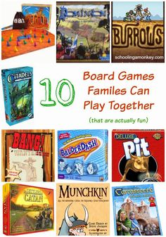 Gift Ideas: 10 Board Games Families Can Play Together (that are actually fun) ~ Schooling a Monkey