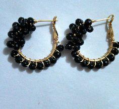 Thread Jewellery, Wire Jewelry, Beaded Jewelry, Silver Jewelry, How To Make Earrings, Bead Earrings, Wire Wrapped Earrings, Earrings Handmade, Costume Jewelry