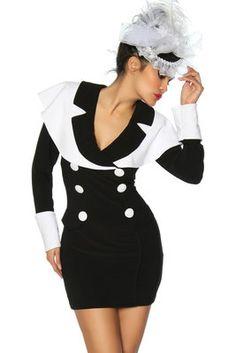 marine jurk zwart