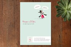 Scooter Wedding Invitations by chocomocacino at minted.com