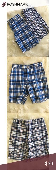 2 pair Janie and Jack boys plaid shorts 2 pair of boys size 5 Janie and Jack plaid shorts. In perfect condition Janie and Jack Bottoms Shorts