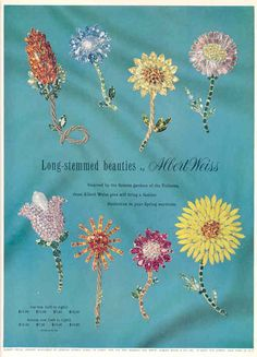 Long stemmed beauties by Albert Weiss...vintage ad...I have a green pin like the…