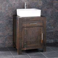 Alta Solid WENGE Oak Single Door Bathroom Basin Cabinet