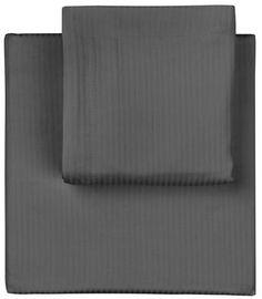 Sengetøj som fx. Hotel strib smal koksgrå fra Magasin eller HAY og FERM Living