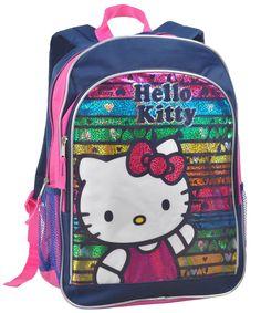 f8f07e6404bb Amazon.co.jp: ハローキティ  Hello Kitty  レインボーに輝く バックパック ミッドナイトブルー  並行輸入品    服&ファッション小物
