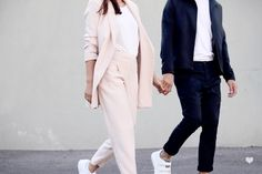 J'aime tout chez toi - French fashion couple - pink and blue tailoring