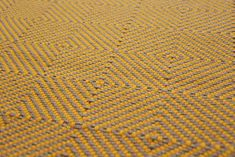 Large Diamond Flatweave Marigold Carpet by Hartley and Tissier