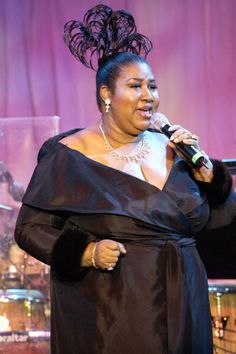 Aretha Franklin wearing Vivid Collection Diamond Jewelry