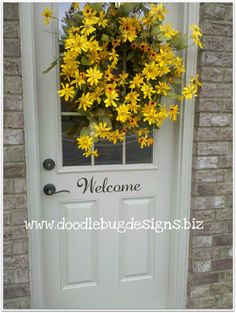 Welcome Vinyl Door or Wall Decal by doodlebugdesignsTN on Etsy, $8.00