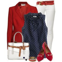 Polka Dot Top, created by daiscat on Polyvore
