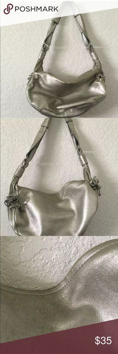 KATE SPADE SILVER HANDBAG KATE SPADE SILVER HANDBAG  minor discoloration please see pictures kate spade Bags Shoulder Bags