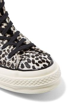Converse - Chuck Taylor All Star  70 leopard-print pony hair high-top  sneakers 44bbc17fc