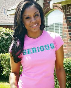 She most certainly is. Are you? AKA, Alpha Kappa Alpha Aka Sorority Gifts, Sorority Fashion, Sorority Outfits, Sorority Life, Alpha Kappa Alpha Founders, Alpha Kappa Alpha Sorority, Alpha Shirt, Pretty In Pink, Pretty Girls