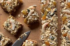Feijoa muesli slice recipe, Bite – Keep slice in an airtight container in the fridge If the muesli contains whole nuts remove and roughly chop - Eat Well (formerly Bite) Honey Lemon, Raw Honey, Muesli Slice, Whole Nut, Ground Almonds, Baking Recipes, A Food, Food Processor Recipes, Breakfast Recipes