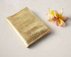 Gold Leather Passport Sleeve / Passport Cover / by MAHARANIatelier